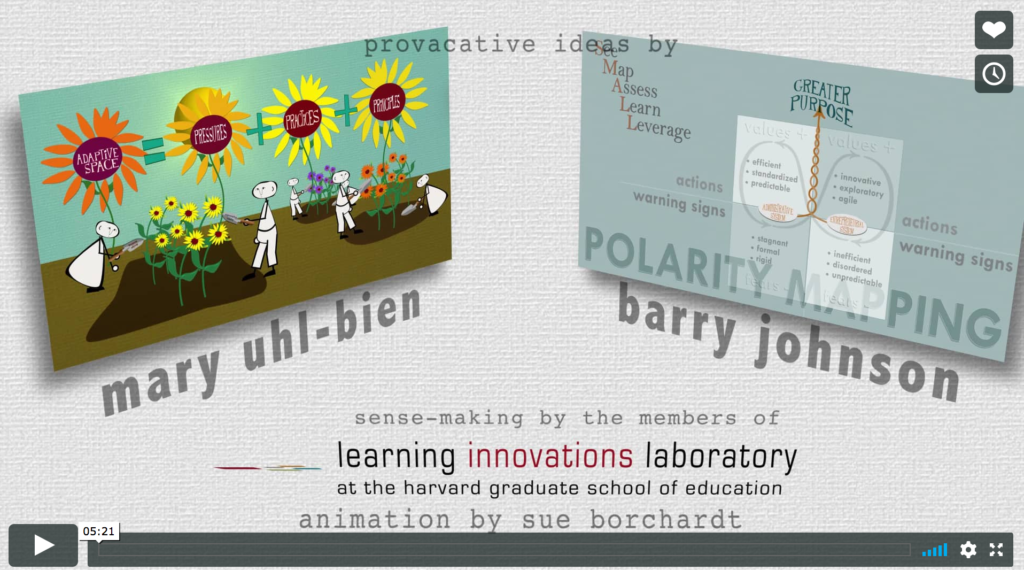 LAL Harvard Graduate School of Education Video Describing the dynamic of Polarities in Complex Environments